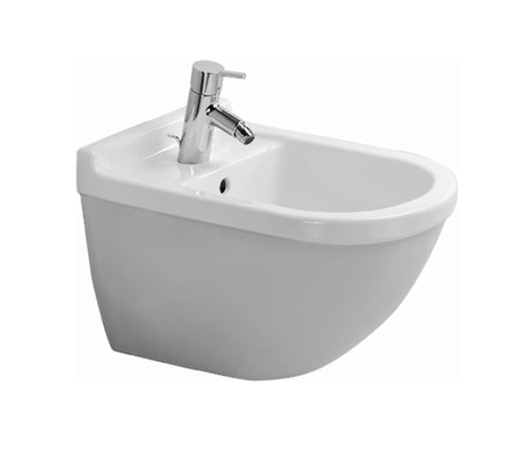 Duravit Starck 3 Wall Mounted Bidet with Overflow - 228015