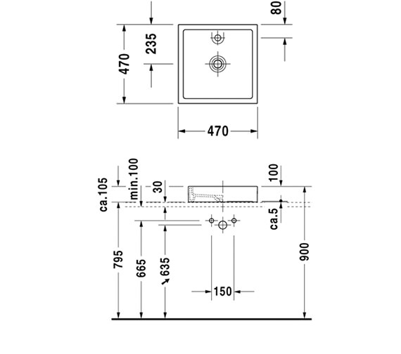 Technical drawing QS-V52855 / 0387470027