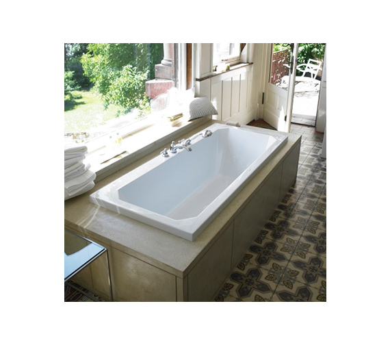 duravit 1930 series double ended rectangular bath 1800 x. Black Bedroom Furniture Sets. Home Design Ideas