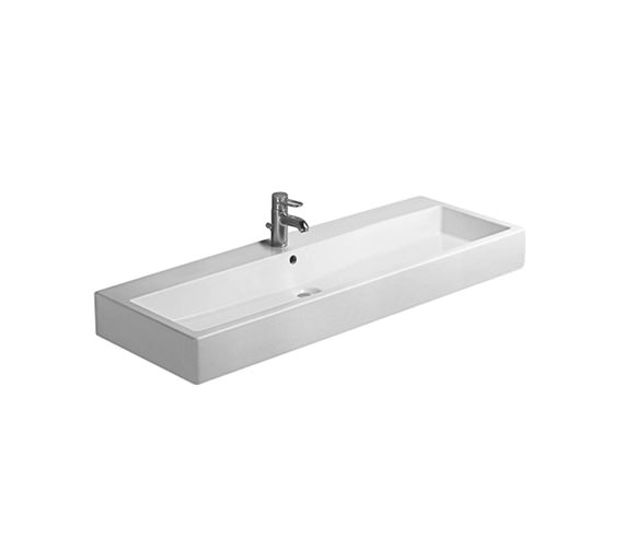 Duravit Vero White 1200mm 1 Tap Hole Grinded Basin - 0454120027