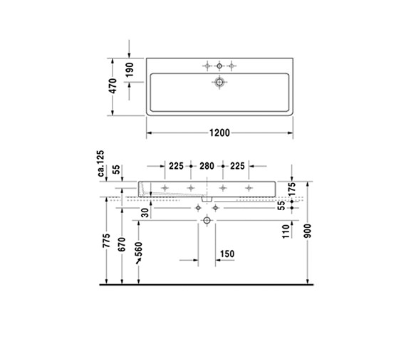 Technical drawing QS-V52967 / 0454120027