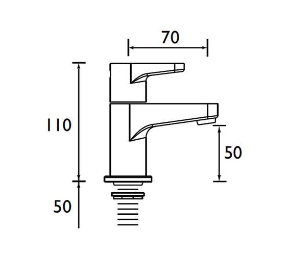 Technical drawing QS-V53018 / QST 1/2 C