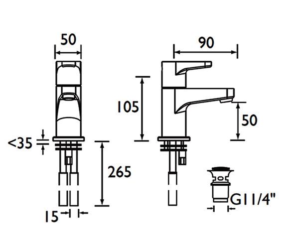 Technical drawing QS-V53019 / QST BAS C