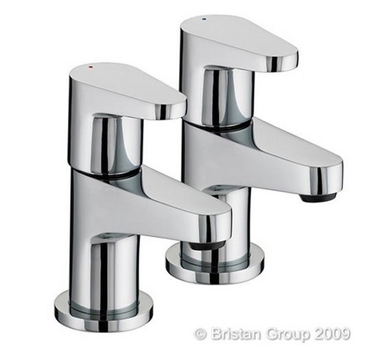Bristan Quest Chrome Bath Taps - QST 3/4 C