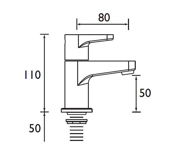 Technical drawing QS-V53020 / QST 3/4 C