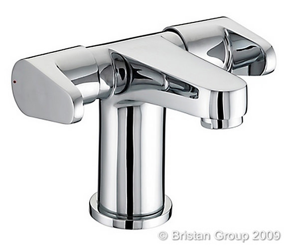 Bristan Quest 2 Handled Basin Mixer Tap With Clicker Waste