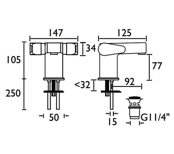 Technical drawing QS-V53022 / QST BAS2 C