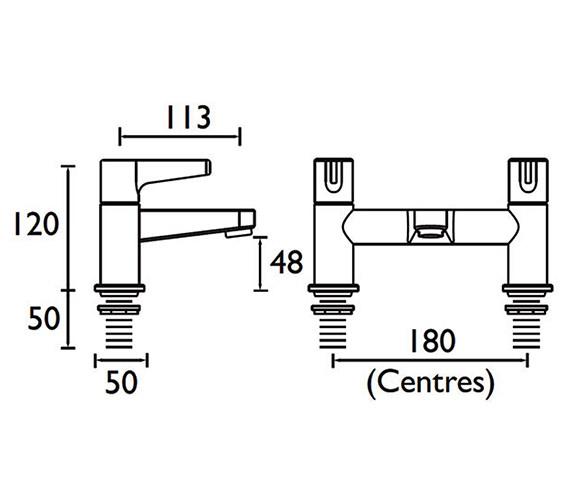Technical drawing QS-V53024 / DUL BF C