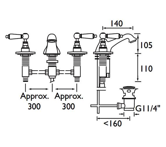 Technical drawing QS-V53067 / RS 3HBAS C