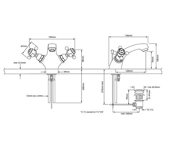 Technical drawing QS-V53318 / THRC04