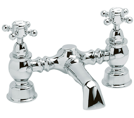 Heritage Hartlebury Deck Mounted Bath Filler Tap Chrome - THRC07