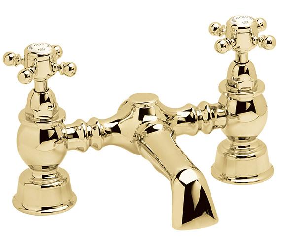 Heritage Hartlebury Deck Mounted Bath Filler Tap Vintage Gold