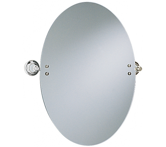 Heritage Clifton Oval Swivel Mirror Chrome