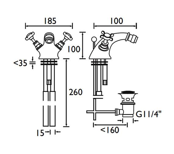 Technical drawing QS-V54040 / N BID G CD