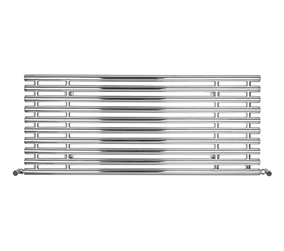 SBH Horizontal Tubes Polished Stainless Steel Radiator 1300mm x 560mm
