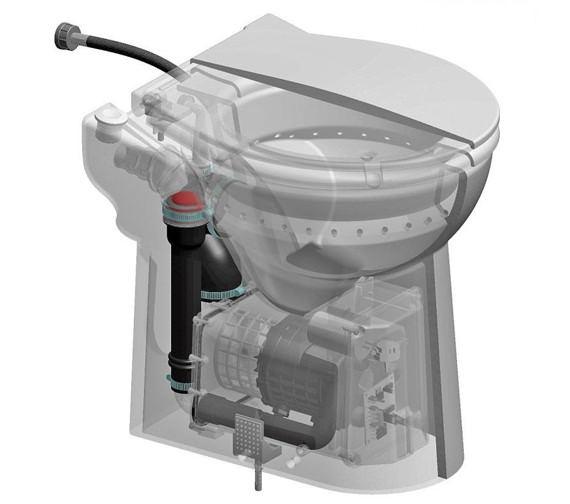 Additional image of Saniflo Sanicompact Cisternless Ceramic WC With Macerator Pump