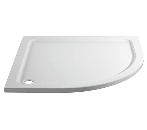 April Offset 1000 x 800mm Left Hand Quadrant Shower Tray