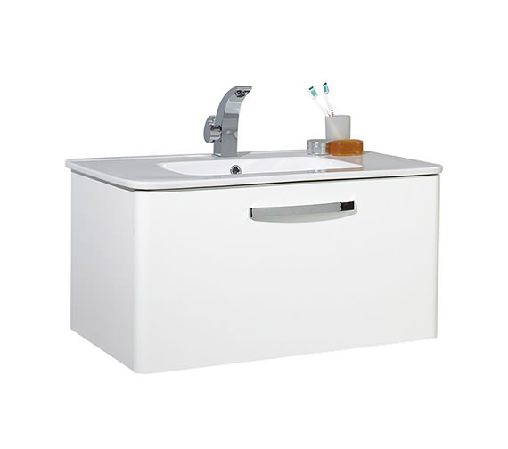 Phoenix Dee 800mm Wall Mounted Unit And Basin - FD80W