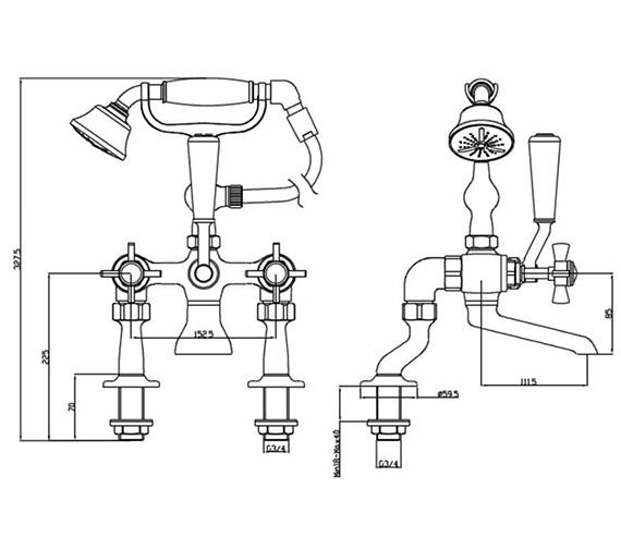 Technical drawing QS-V54878 / TDCG02