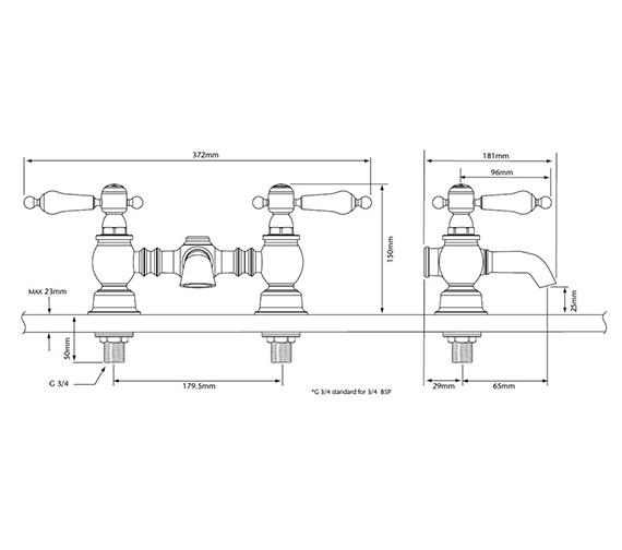 Technical drawing QS-V82338 / TGRBL07