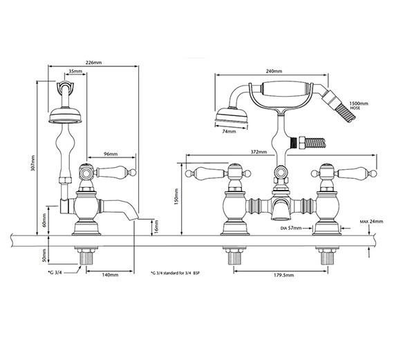 Technical drawing QS-V82340 / TGRBL02