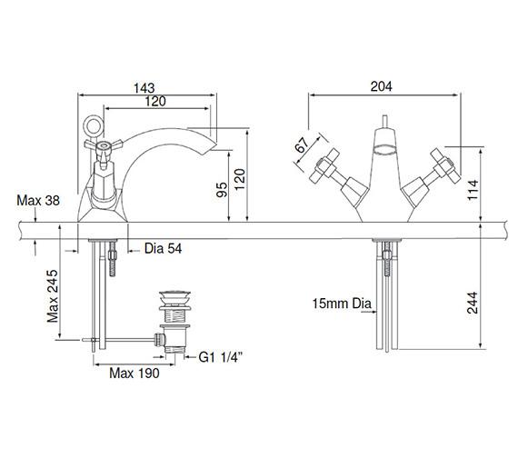 Technical drawing QS-V82345 / TGRDMOP04