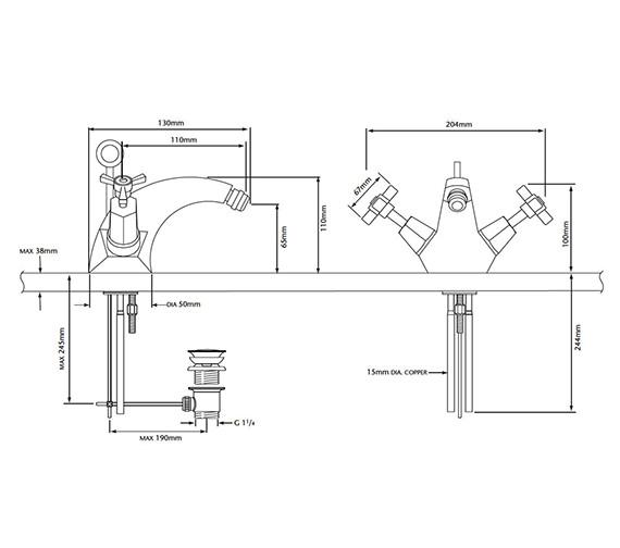 Technical drawing QS-V54902 / TGRDC05