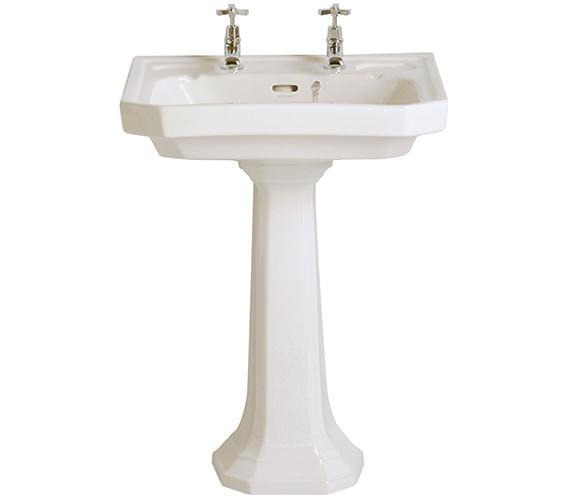 heritage granley deco 600mm 2 taphole basin pgdw05. Black Bedroom Furniture Sets. Home Design Ideas