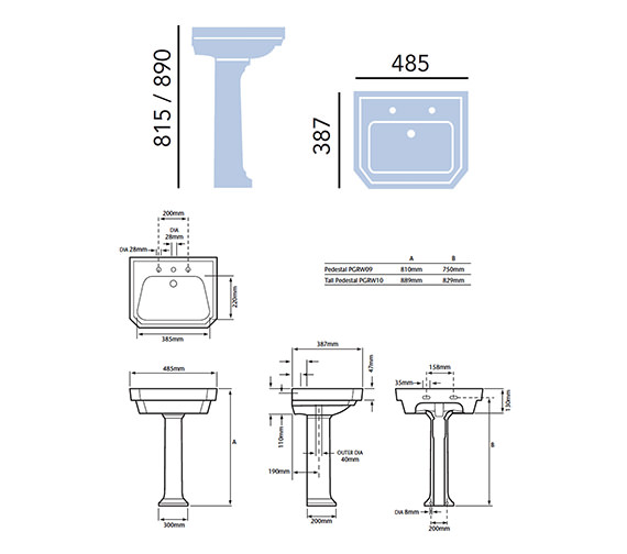 Technical drawing QS-V54923 / PGDW07