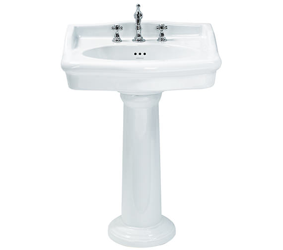 Heritage Victoria 650mm 3 Taphole Standard Basin - PVEW063