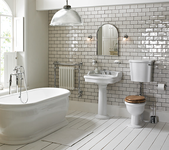 Heritage Victoria Low Level Wc And Cistern With Flush Pack