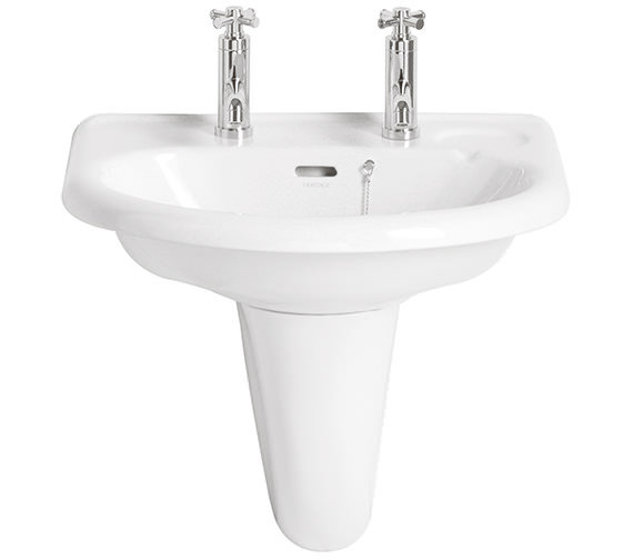 Heritage Belmonte 585mm 1 Taphole Wall Hung Basin - PBW061