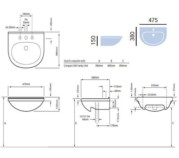 Technical drawing QS-V54938 / PBW371