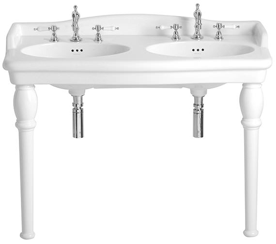 Heritage Victoria Double Console 3 Taphole Basin - PVEW483