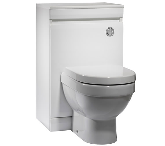 Tavistock Groove 500mm White Back To Wall WC Unit - GR5BTWW Image