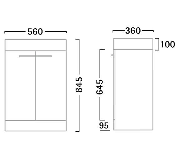 Technical drawing QS-V55190 / K56FW