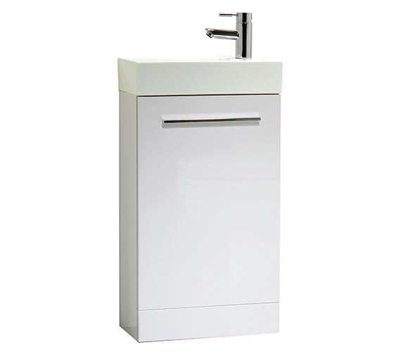Tavistock Kobe 450mm White Floorstanding Unit With Basin - KFS45W