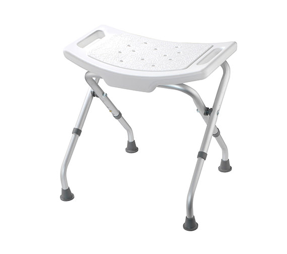 Croydex White Adjustable Bathroom And Shower Seat - AP100122