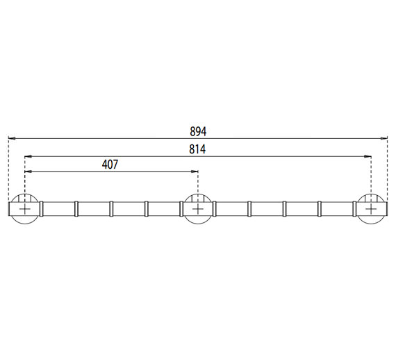 Alternate image of Croydex Assistive Grab N Grip 380mm Wide Straight Grab Bar