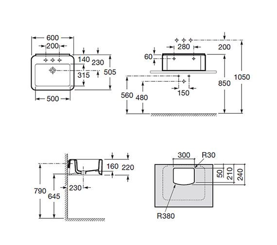 Technical drawing QS-V55477 / 327570000