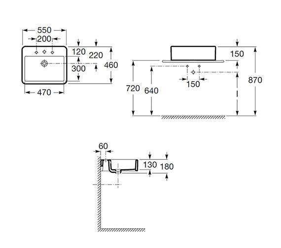 Technical drawing QS-V55480 / 327576000