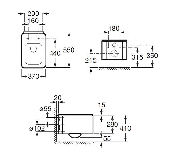Technical drawing QS-V55483 / 346577000
