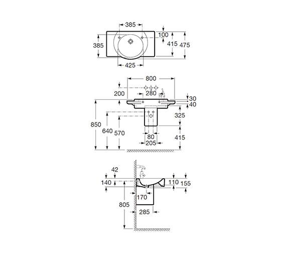 Technical drawing QS-V55488 / 327561000