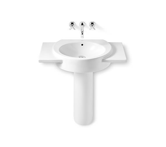 Additional image of Roca Happening Wall Hung Basin With Wings 800 x 475mm - 327561000