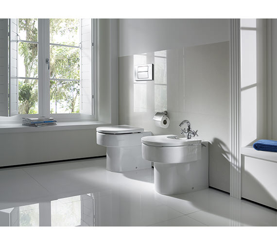 Additional image of Roca Happening Back-To-Wall WC Pan With Soft Close Seat - 347567000