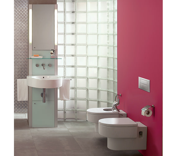 Additional image of Roca Happening Wall Mounted WC Pan With Soft Close Seat - 346567000