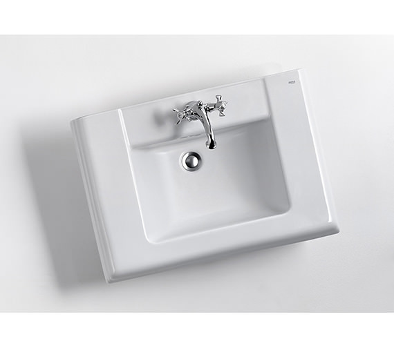 Additional image of Roca New Classical White Basin 630 x 510mm - 750 x 525mm Size Optional