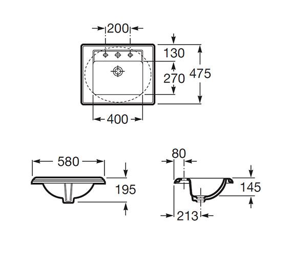 Technical drawing QS-V55500 / 327495000