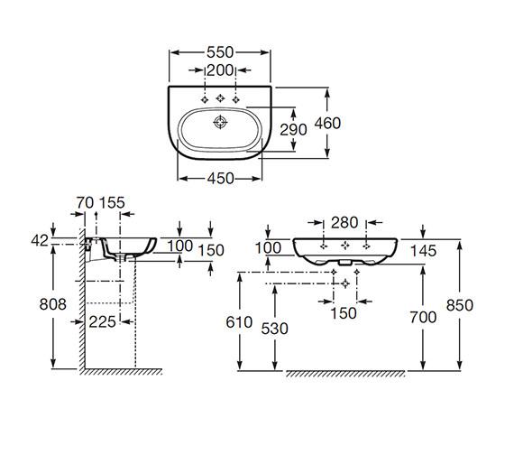 Technical drawing QS-V55516 / 327244000
