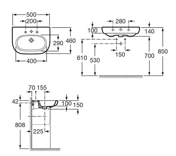 Technical drawing QS-V55517 / 327244000